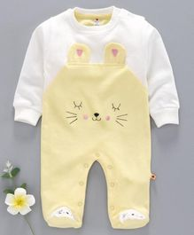 Brats and Dolls Full Sleeves Sleep Suit Bear Print - Yellow