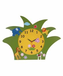 Kidoz Battery Operated Clock Jungle Safari Design - Green