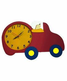 Kidoz Vehicle Shaped Battery Operated Clock - Pink