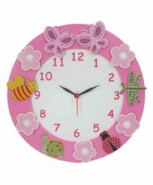Kidoz Battery Operated Clock - Pink