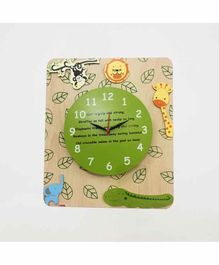 Kidoz Battery Operated Jungle Safari Clock - Green