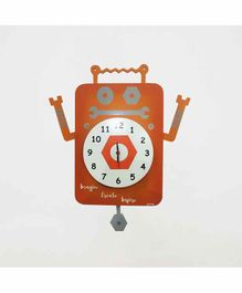 Kidoz Battery Operated Clock - Brown