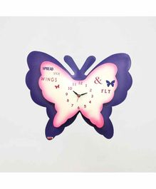 Kidoz Battery Operated Butterfly  Clock - Purple