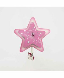 Kidoz Battery Operated Star Clock - Pink