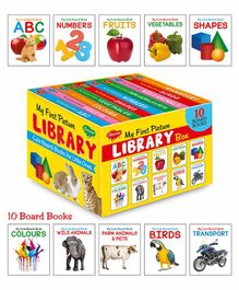 Sawan My First Picture Library Box of 10 Board Books - English