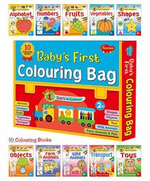Baby's First Colouring Books Set of 10 - English