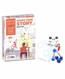 Chalk and Chuckles Shape Your Story Drawing & Storytelling Game - Multicolour
