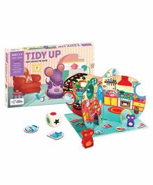 Chalk and Chuckles Tidy Up, Sort around the House Board Game - Multicolor