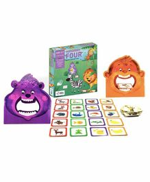 Chalk and Chuckles Hungry Four, Memory & Movement Board Game - Multicolor