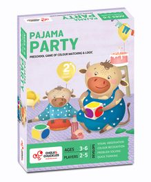 Chalk and Chuckles Pajama Party Board Game - Multicolor