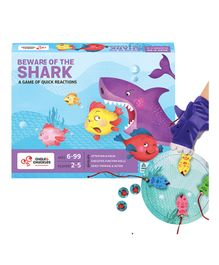 Chalk and Chuckles Beware of The Shark Rapid Reflex Board Game - Multicolor