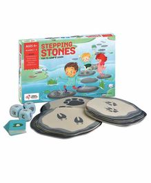 Chalk and Chuckles Stepping Stones Jump & Learn Activity Board Game - Multicolor