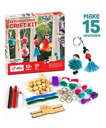 Chalk and Chuckles Keychain Dolls Making Kit - Multicolor