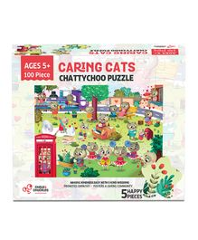 Chalk and Chuckles Chattychoo Cat Jigsaw Puzzle - 100 Pieces