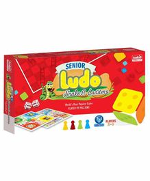 Ankit Toys Senior 2 in 1 Ludo Snakes & Ladder - Multicolor
