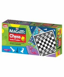 Ankit Toys Magnetic 2 in 1 Board Game - Multicolor