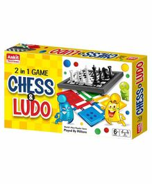 Ankit Toys 2 In 1 Chess and Ludo Board Game - Multicolor