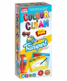 Ankit Toys Transport Theme Colour & Clean Kit - 12 Cards