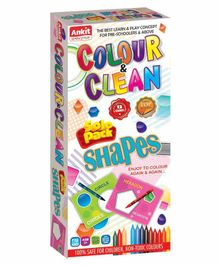 Ankit Toys Shapes Theme Colour & Clean Kit - 12 Cards