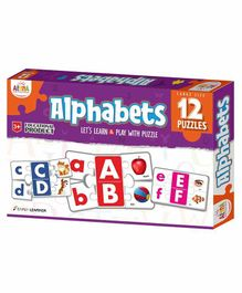 Ankit Toys Alphabet Themed Puzzles Set of 12 - 5 Pieces each