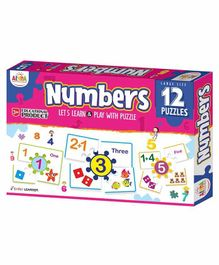 Ankit Toys Number Themed Puzzles Set of 12 - 5 Pieces each