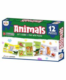 Ankit Toys Animal Themed Puzzles Set of 12 - 5 Pieces each