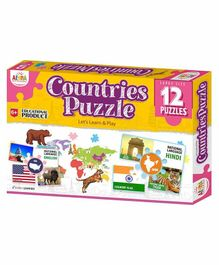 Ankit Toys Countries Themed Puzzles Set of 12 - 5 Pieces each