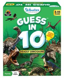 Skillmatics Guess in 10 Deadly Dinosaurs Green - 56 Cards