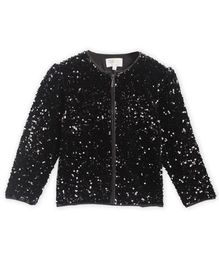 Cherry Crumble By Nitt Hyman Full Sleeves Sequin Detailing Jacket - Black