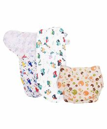 Mom's Home Reusable Pocket Diaper With 2 Swaddle Wraps - Multicolor