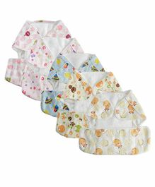 Mom's Home Reusable Pocket Diapers With 5 Inserts Pack of 5 - Multicolor