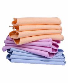 Mom's Home Double Layered Cloth Nappies Pack of 8 - Multicolor