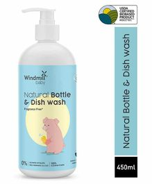 Windmill Baby Natural Bottle & Dish Wash Anti-Bacterial Liquid Cleanser - 450 ml