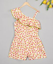 Budding Bees Sleeveless Floral Print Jumpsuit - Multicolor
