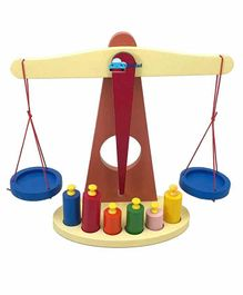 FunBlast Wooden Weight Balancing Toy - Multicolor