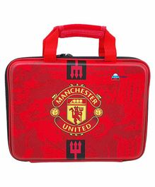 FunBlast Rectangular Multipurpose Pencil Case Manchester United Print - Red