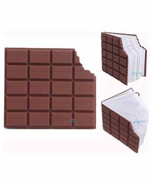 FunBlast Chocolate Shaped Notepad Pocket Diary - 80 Pages
