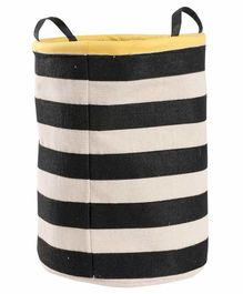 My Gift Booth Striped Canvas Stationery Holder - Black White