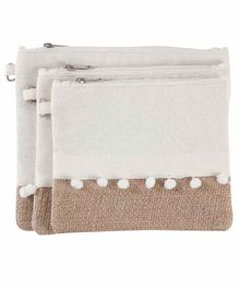 My Gift Booth Accessory Pouches Set of 3 - White Pink