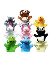 Kuhu Creation Hand Puppets Multicolor - Set Of 10 Pieces