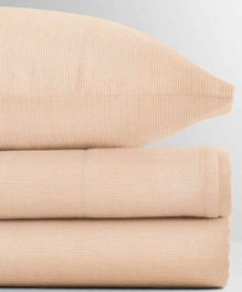 The Baby Atelier 100% Organic Fitted Single Sheet with Pillow Cover - Pink