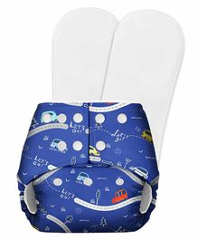 SuperBottoms Basic Pocket Diaper with 2 Inserts - Royal Blue