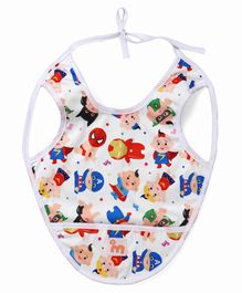 Superbottoms Bib with Crumb Catcher - White