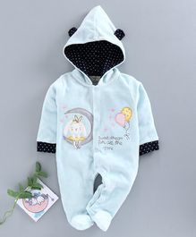 Brats and Dolls Full Sleeves Sleep Suits Girl Green 6-9M