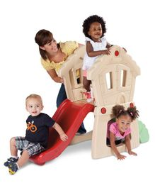 Little Tikes Hide & Seek Slide with Climber - Blue Red