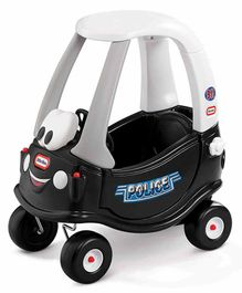 Little Tikes Police Car Manual Push Ride on - Black