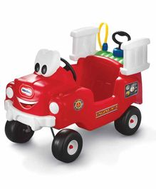 Little Tikes Spray & Rescue Fire Truck Manual Push Ride on - Red