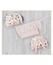 Lollipop Lane Cushioned Cloth Nappy with Adjustable Strings Small Size Pack of 3 - Beige