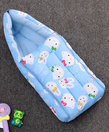 Zoe Baby Sleeping Bag Kitten Print - Blue
