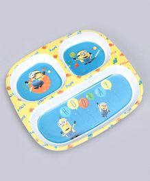 Minions Sectioned Plate - Blue Yellow